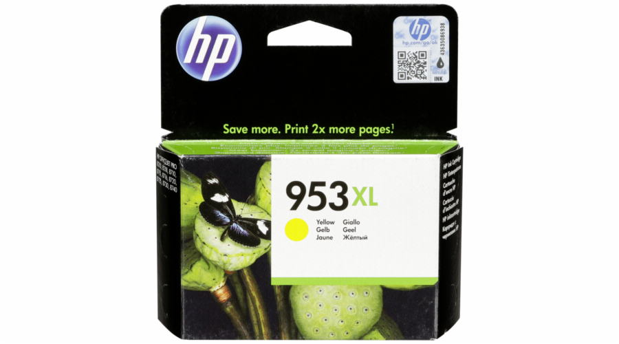 HP F6U18AE ink cartridge yellow No. 953 XL