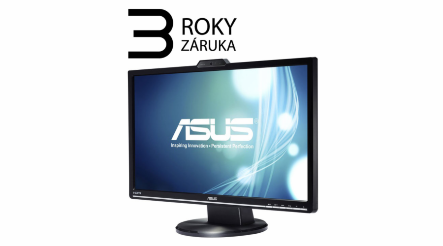 "24"" LED ASUS VK248H -50 000:1,DVI-D,webcam,repro"