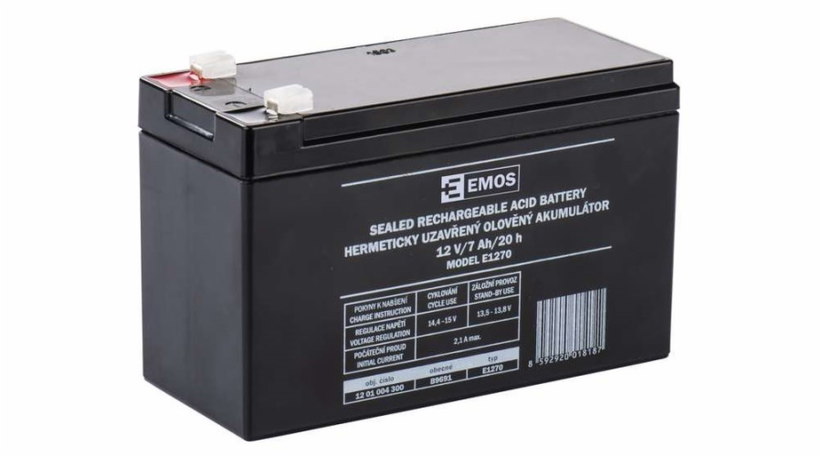 Emos baterie SLA 12V / 7 Ah, Faston 4.8 (187)