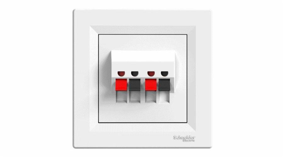 Asfora - Dvojnásobná reproduktorová zásuvka - bílá
