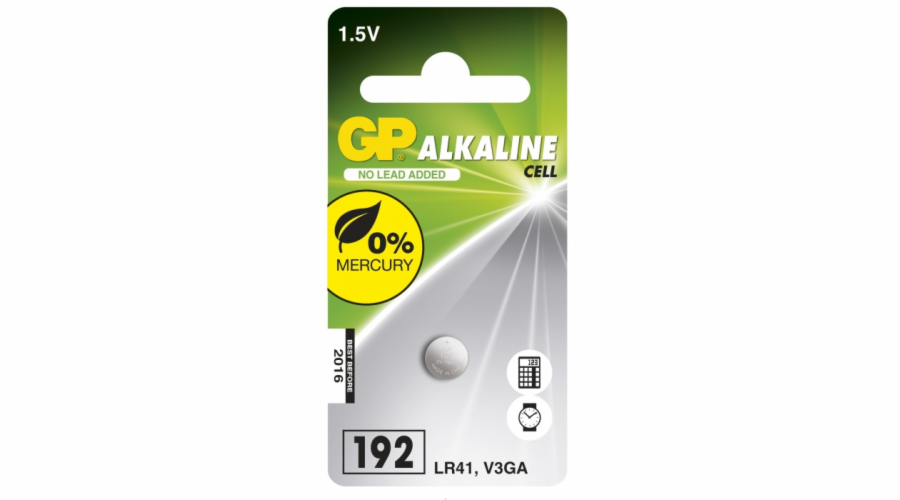 GP LR41 (GP192, 7.9 x 3.6 mm) - 1 ks