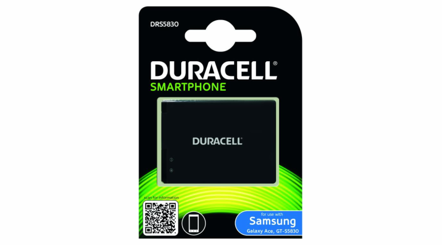 DURACELL Baterie - DRS5830 pro Samsung Galaxy Ace (GT-S5830), 1450 mAh, 3.8V