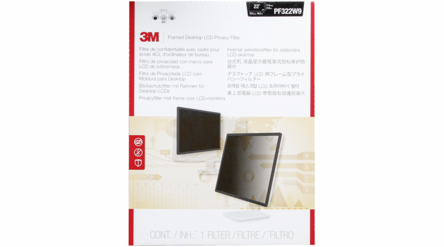 3M PF322W9 Privacy Filter for 54,6-55,9cm (21,5 -22 ) 16:9