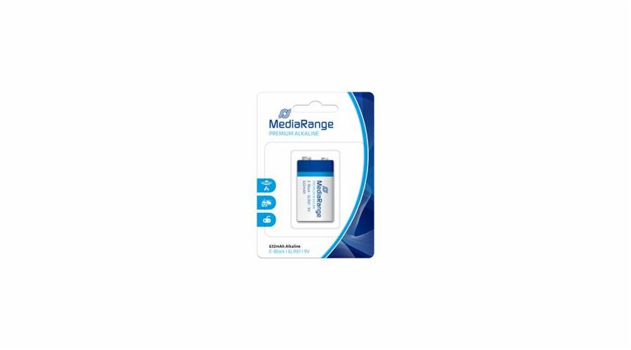 MEDIARANGE Premium baterie E-Block 9V Alkalická