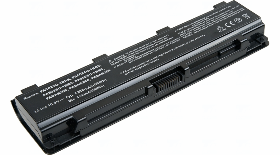 Baterie T6 power Toshiba Satellite C50, C70, C800, C850, L70, L800, M800, P800, 6cell, 5200mAh
