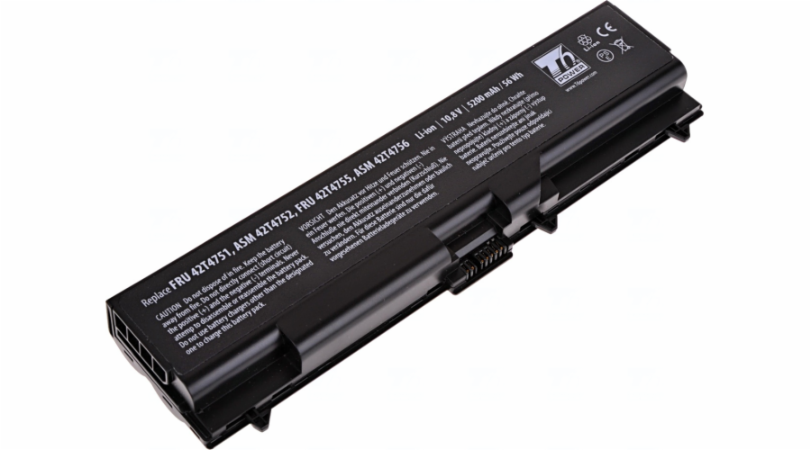 Baterie T6 power Lenovo ThinkPad T410, T420, T510, T520, L410, L420, L510, L520, 6cell, 5200mAh