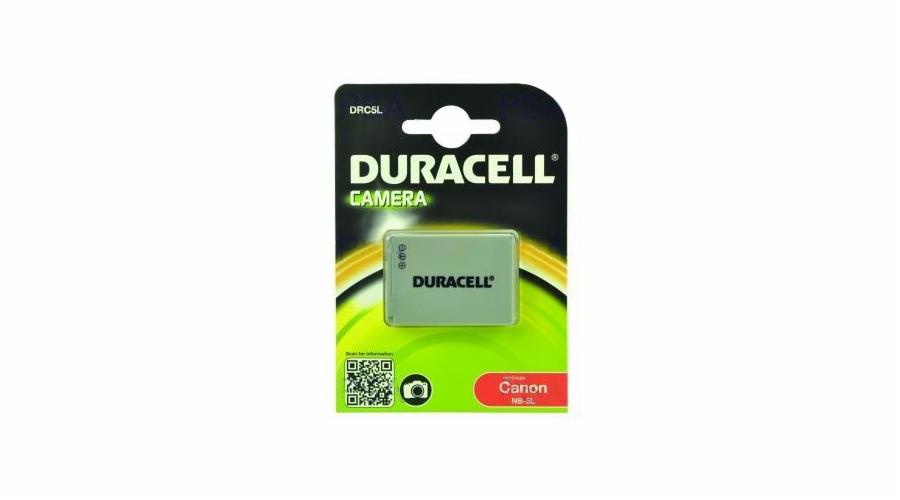 DURACELL Baterie - DRC5L pro Canon NB-5L, šedá, 820 mAh, 3.7 V