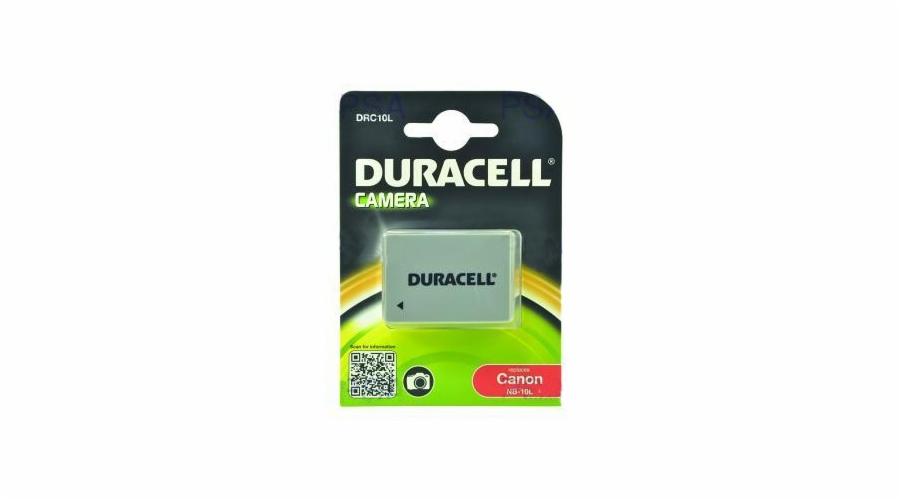 DURACELL Baterie - DRC10L pro Canon NB-10L, černá, 820 mAh, 7.4 V