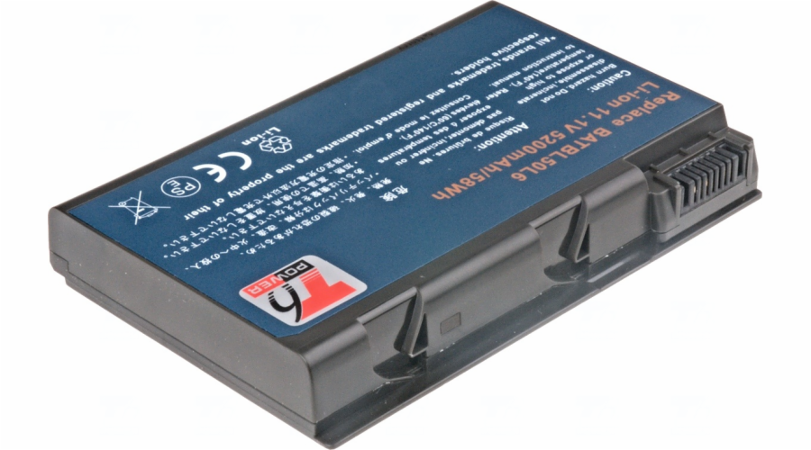 Baterie T6 power Acer Aspire 3100, 5100, 5110, 5610, TravelMate 2490, 4200, 4280, 6cell, 5200mAh