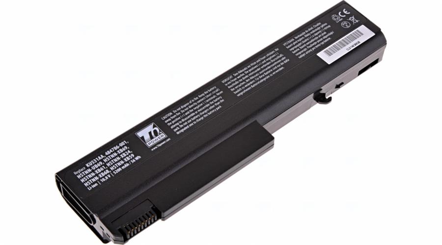 Baterie T6 power HP Compaq 6530b, 6730b, 6930b, ProBook 6440b, 6450b, 6540b, 6550b, 6cell, 5200mAh