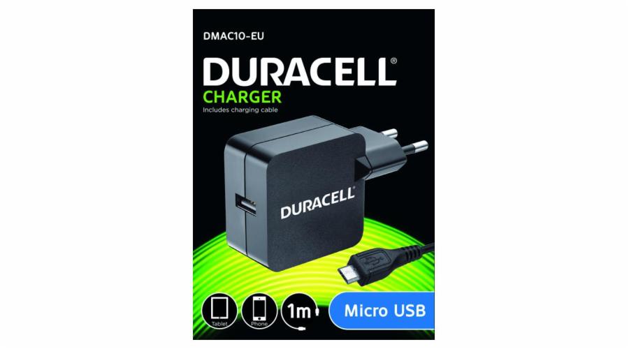 Duracell USB Nabíječka pro čtečky & telefony 2,4A včetně kabelu USB micro B černá 1m
