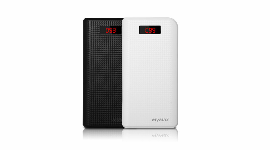 iMyMax Carbon Power Bank 30.000mAh, White