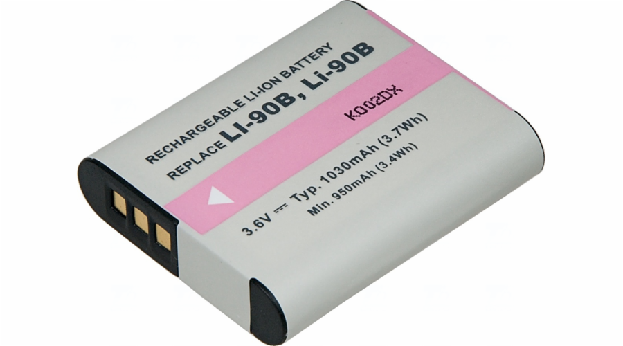 Baterie T6 power Olympus Li-90B, 1030mAh, černá