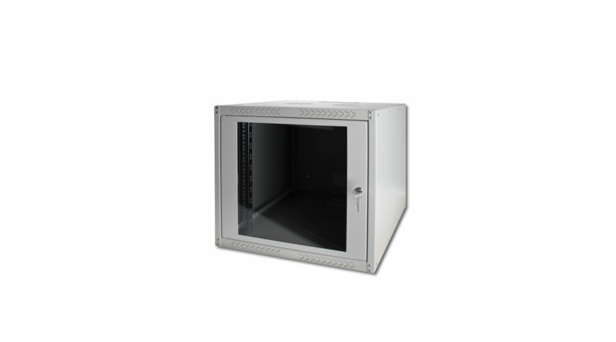 """Digitus 9U 19"""" skříň, nástěnná, šedá, hl.45cm, smontovaná"""