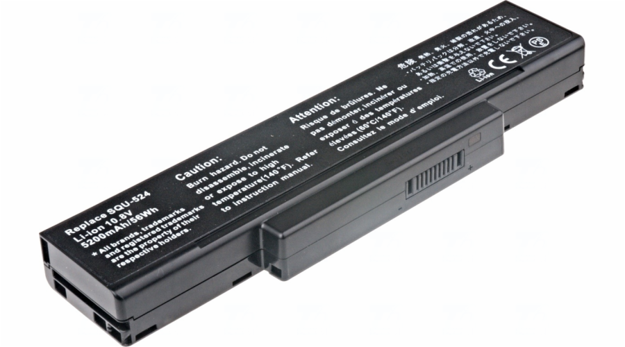 Baterie T6 power Asus A9, MSI CR400, CX410, EX400, EX600, EX720, GE600, GX600, GX720, 6cell, 5200mAh