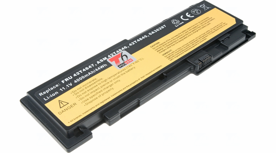 Baterie T6 power Lenovo ThinkPad T420s, 6cell, 3900mAh