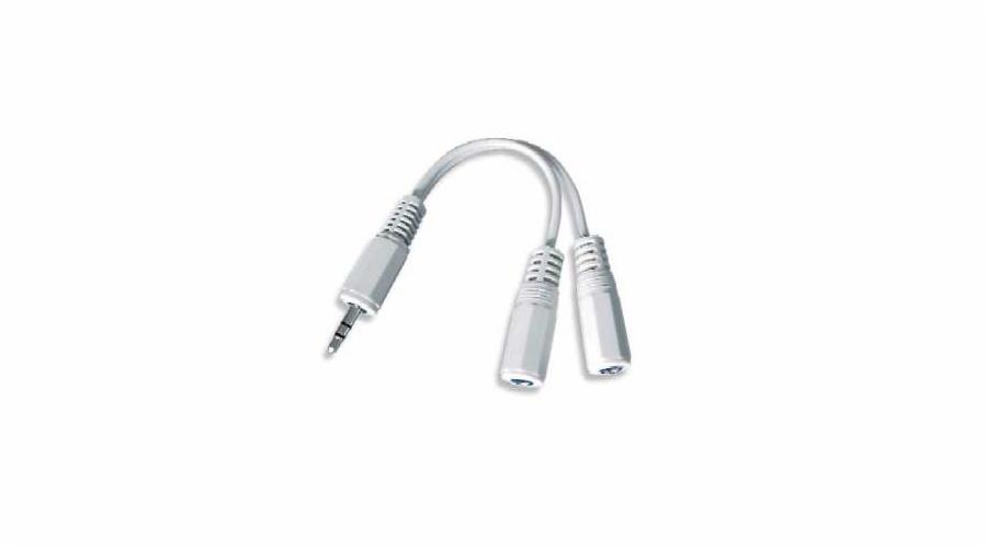 Kabel GEMBIRD rozdvojka jack 3,5mm na 2x3,5mm M/F, 10cm, audio