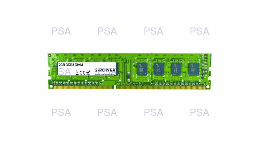 2-Power 2GB PC3-10600U 1333MHz DDR3 CL9 Non-ECC DIMM 2Rx8 ( DOŽIVOTNÍ ZÁRUKA )