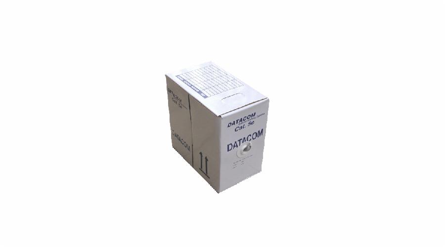 DATACOM UTP Cat5e PVC kabel 305m (drát), šedý