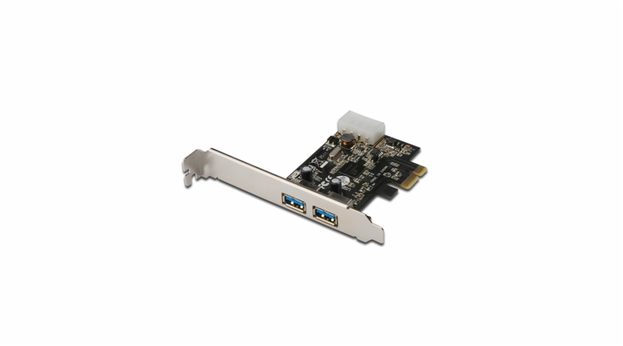Digitus USB 3.0, 2-Port, PCI Express Add-On, 2 Ports A/F; 1x LP bracket, NEC uPD720200 chipset