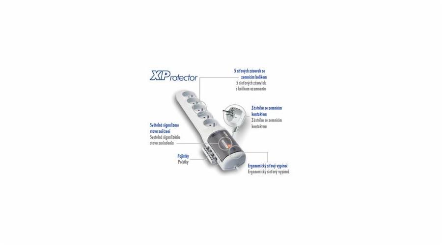 Rozvodný panel ACAR XProtector/3m 5x220V bílý
