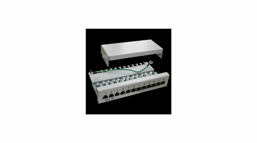 Patch panel Box 12-port Cat5e STP na zed´