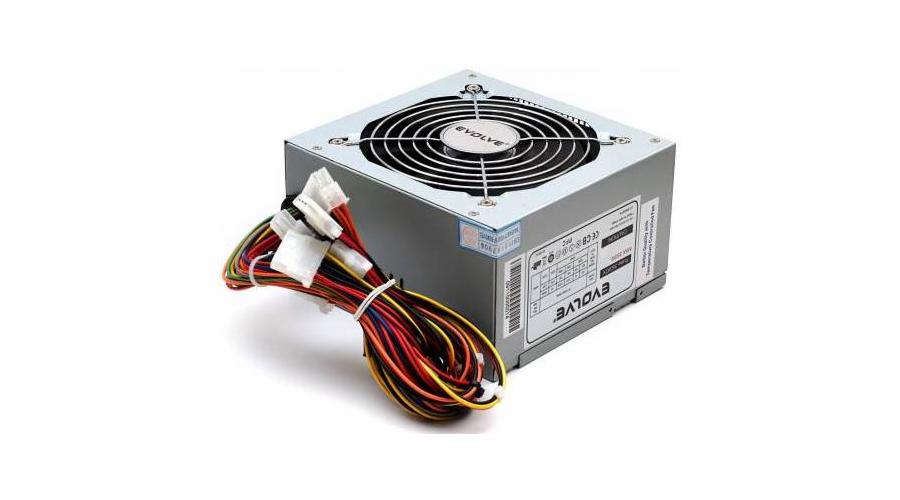 EVOLVEO zdroj 400W PULSE, ATX 2.2, 12cm fan, pas. PFC, 2xSATA, black, bulk balení