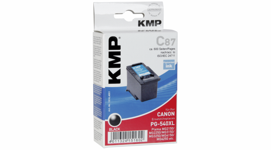 KMP C87 cartridge cerna kompatibilni s Canon PG-540 XL