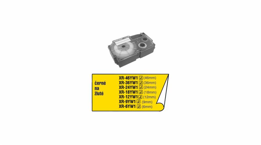 Barvící páska Casio XR 18 YW1