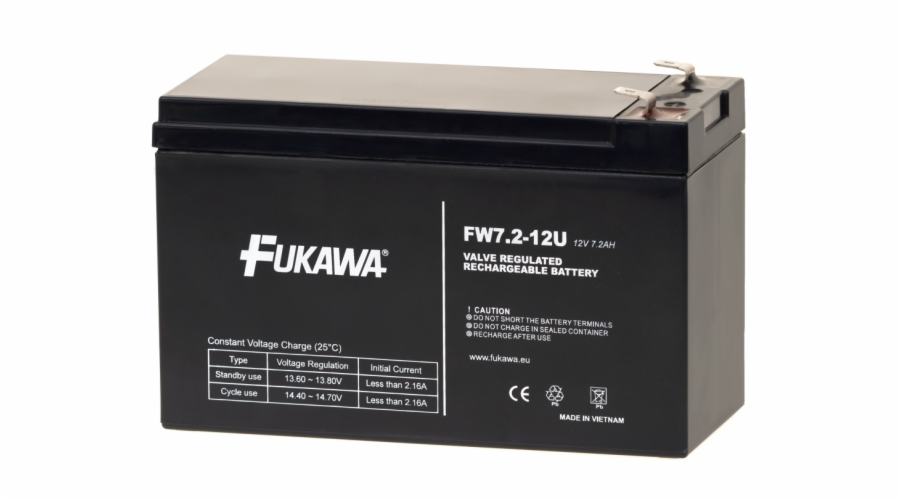 Akumulátor FUKAWA FW 7.2-12 F2U (12V 7,2Ah)