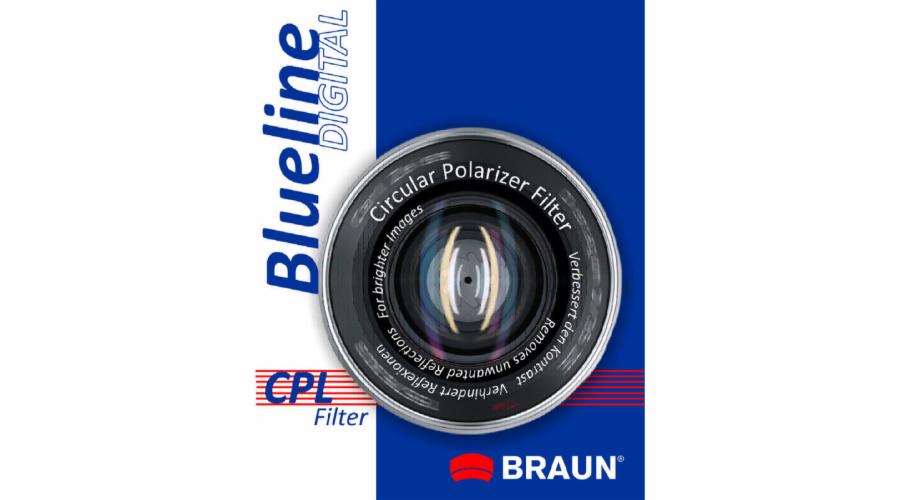 BRAUN CP-L polarizační filtr BlueLine - 43 mm
