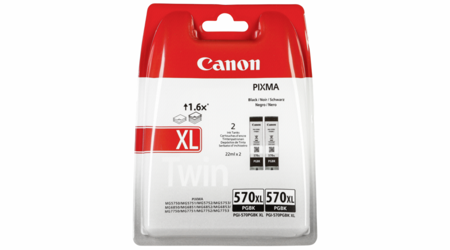 Canon PGI-570 XL PGBK black Twin Pack