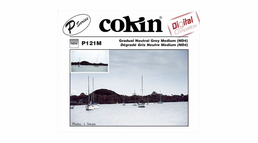 Cokin Filter P121M Gradual grey 2 ND 4