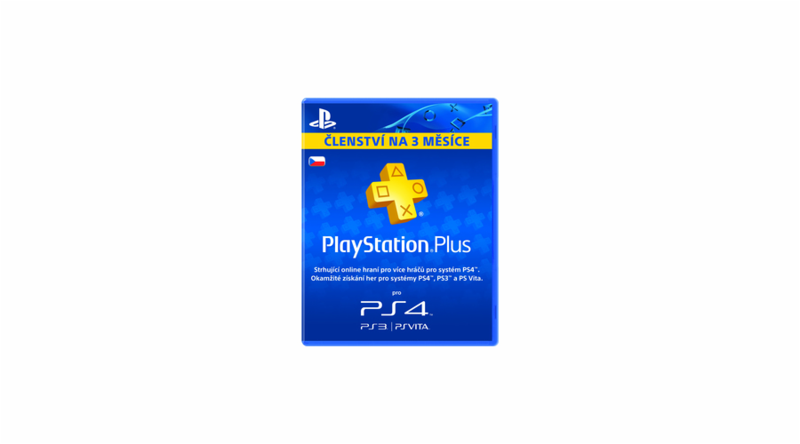PS Plus card 90 dní SONY