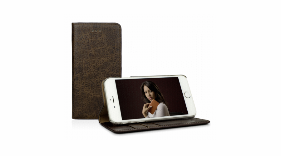 CASEual Leather Wallet iPhone 6s, Vintage Mamut
