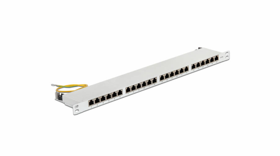 "Delock 19"" Patch Panel 24 Port Cat.6 0.5 U grey"