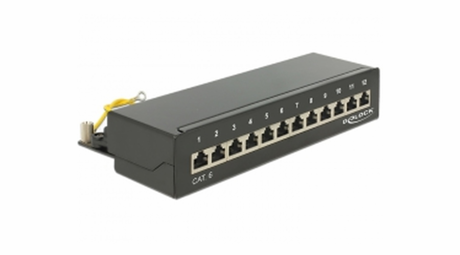 Delock Desktop Patch Panel 12 Port Cat.6 black