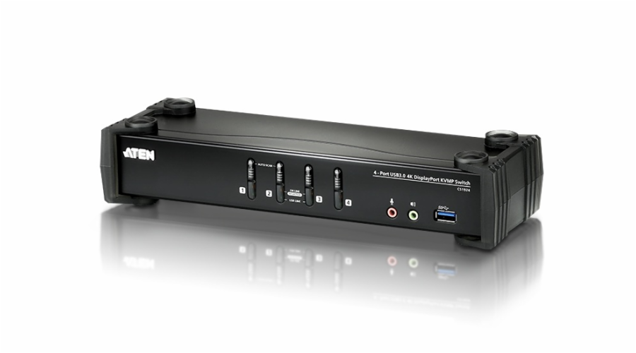 ATEN KVM switch CS-1924, 4-Port USB 3.0 4K DisplayPort (4K,USB 3.1 Gen 1)