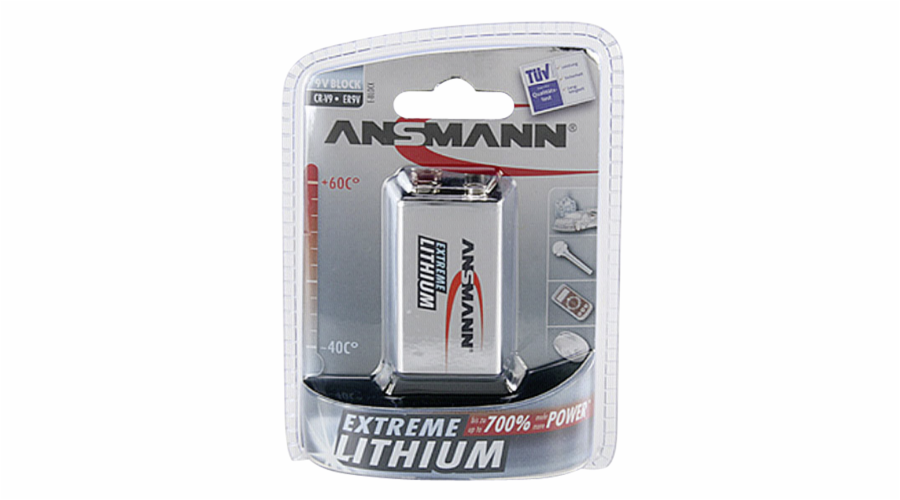 1 Ansmann Lithium 9V-Block extreme