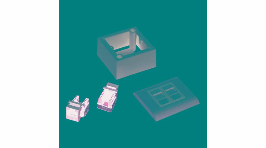DATACOM UTP 2xRJ45 zásuvka Cat6 (pod i nad omítku)