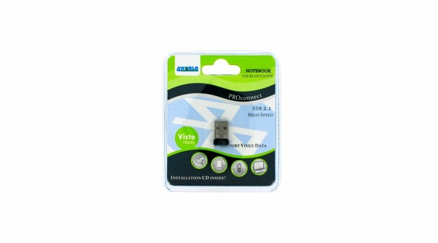 USB Bluetooth Mini adaptér 4World 1.2