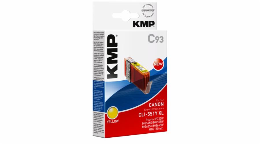 KMP C93 cartridge zluta komp. s Canon CLI-551 Y XL