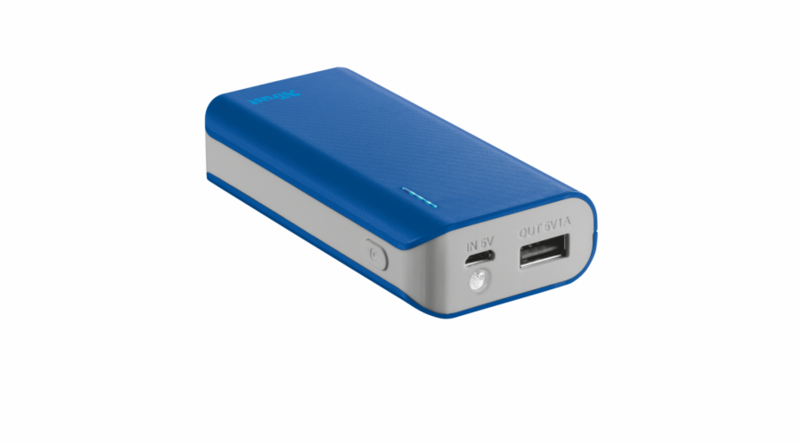 TRUST Primo PowerBank 4400 Portable Charger - blue