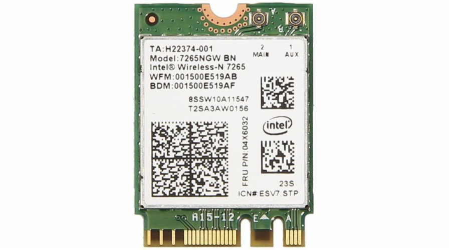 Intel Dual Band Wireless-AC 7265, 2x2 AC + BT, M.2