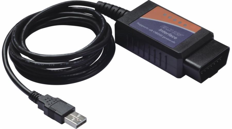 PremiumCord ELM327 USB diagnostický kabel OBD-II