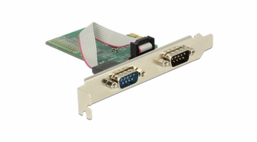 Delock PCI Express Card > 2 x Seriový RS-232