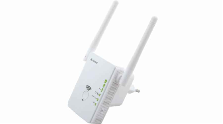 STRONG unverzální opakovač 300/ Wi-Fi standard 802.11n/ 300 Mbit/s/ 2,4GHz/ 2x LAN/ bílý