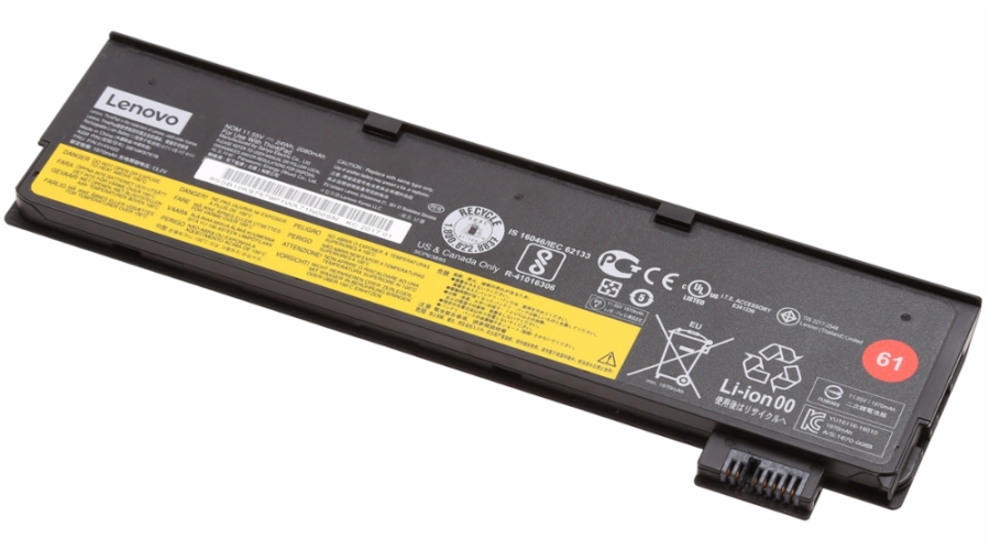 Lenovo TP Battery 61 T470/T570/P51s 3 Cell Li-Ion (24 Wh)