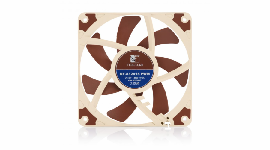 Noctua NF-A12x15-PWM, 120x120x15 mm, 4-pin, 1850 RPM