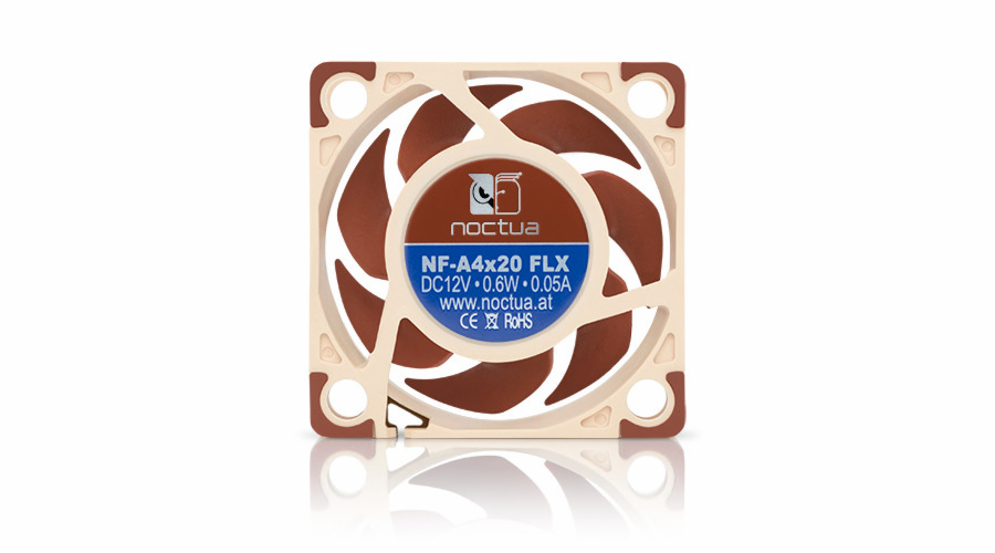 Noctua NF-A4x20-FLX, 40x40x20mm, 3-pin, 5000/3700 RPM